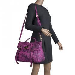 6a02b0fc29f0 Mulberry Pink Leopard Print Leather Oversized Alexa Satchel