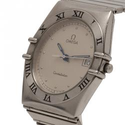 Omega Silver Stainless Steel Constellation 1448 Women's Wristwatch 33MM