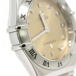 Omega Pink Stainless Steel Constellation Women's Wristwatch 25MM