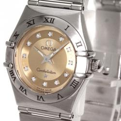 Omega Copper Stainless Steel Constellation Women's Wristwatch 22MM