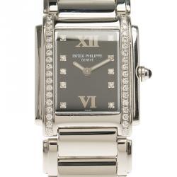 Patek Philippe Black Stainless Steel Twenty 4 Women's Wristwatch 26MM