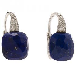 Pomellato Capri Diamond & Lapis Lazuli White Gold Drop Earrings