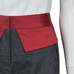 Prabal Gurung Grey Wool Trousers M