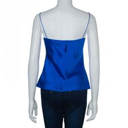 Prabal Gurung Blue Silk Cami Top S