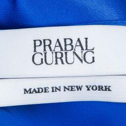 Prabal Gurung Blue Silk Cami Top S