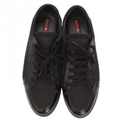 885da03bb حذاء رياضي برادا سبورت جلد سافيانو ونايلون أسود مقاس 37.5