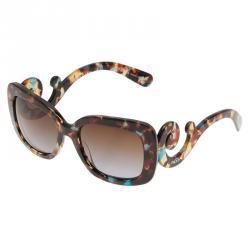 Prada Brown Tortoise Frame Baroque Sunglasses