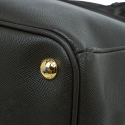 Prada Military Green Saffiano Lux Leather Medium Double Zip Tote