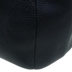 Prada Black Vitello Daino Leather Shopper Tote