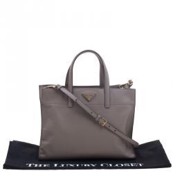 Prada Beige Saffiano Soft Leather Tote