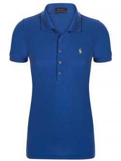 Polo Ralph Lauren Cobalt Blue/Yellow Logo Polo Shirt XS