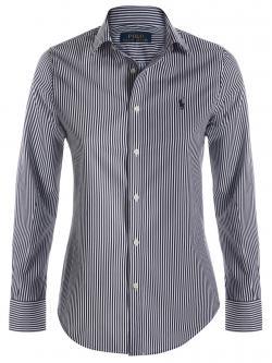 Polo Ralph Lauren Monochrome Striped Logo Long Sleeve Shirt L