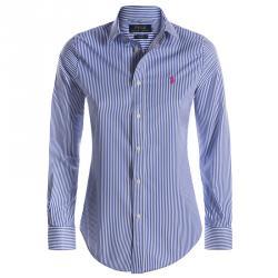 Polo Ralph Lauren Blue/White Striped Logo Long Sleeve Shirt L