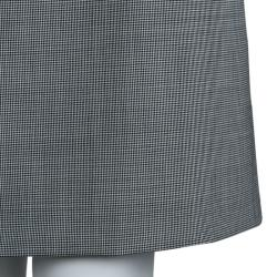 Red Valentino Monochrome Houndstooth Bow Detail Dress M