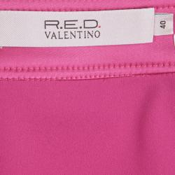 RED Valentino Pink Scallop Lace Trim Detail Skirt S