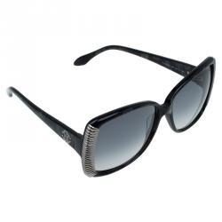 Roberto Cavalli Black Alloro Metal Accented Butterfly Sunglasses