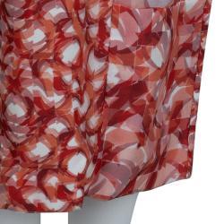 Roksanda Ilincic Orange Printed Sleeveless Silk Dress M