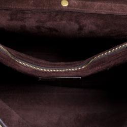 Saint Laurent Paris Gold Leather Large Muse Two Satchel