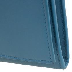Saint Laurent Paris Blue Leather Y Line Continental Wallet