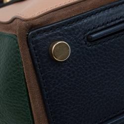 Saint Laurent Paris Tri Color Leather Medium Muse Two Satchel