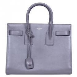 8243d8853cc7 Saint Laurent Paris Grey Leather Small Sac De Jour Tote