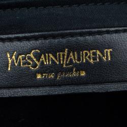 Saint Laurent Paris Pine Green Leather Medium Muse Tote