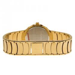 Saint Laurent Paris Blue Gold-Plated Stainless Steel Classic Unisex Wristwatch 36MM