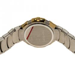 Saint Laurent Paris Silver Gold-Plated Stainless Steel Classic Women's Wristwatch 28MM