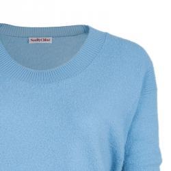 See by Chloe Blue Pocket Wool Sweater Dress L