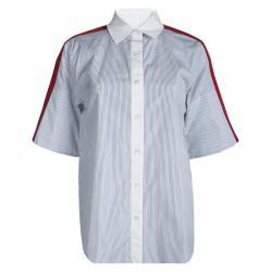 Sonia Rykiel Contrast Shoulder Yoke Detail Striped Shirt S