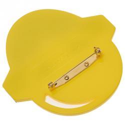 Stella McCartney Yellow Superhero Brooch