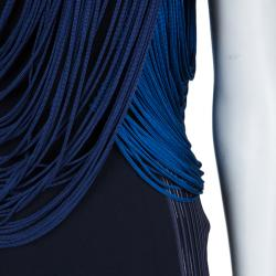 Stella McCartney Blue And Black Ombre Fringed Dress S