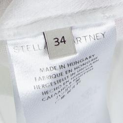Stella McCartney White Cotton Sleeveless Shirt XS