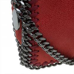 Stella McCartney Red Faux Leather Falabella Crossbody Bag