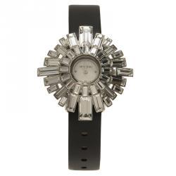 Swarovski White Stainless Steel Crystals Shourouk  Women's Wristwatch 21MM