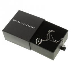 Swarovski Black & White Heart Crystal Necklace