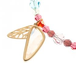 Swarovski Multicolor Crystal Gold Tone Bracelet