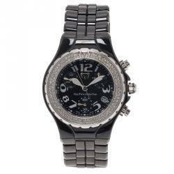Technomarine Black Ceramic Technolady Women's Wristwatch 33MM