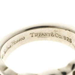 Tiffany & Co. Paloma Picasso Loving Heart Silver Ring Size 49