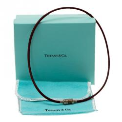 Tiffany & Co. Paloma Picasso Silver and Black Rubber Surfer Necklace