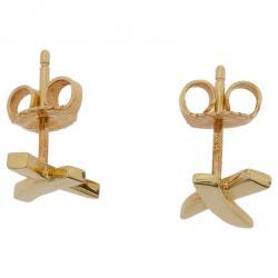 Tiffany & Co. Paloma's X Yellow Gold Mini Stud Earrings