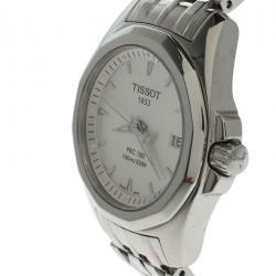 db2723c4d ساعة يد نسائية تيسوت PRC 100 ستانلس ستيل فضية 28 مم