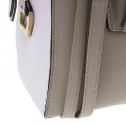 Tod's Beige/Pink Leather Small D-Cube Bowler Bag