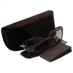 Tom Ford Tortoise Shell Willa Cat Eye Sunglasses