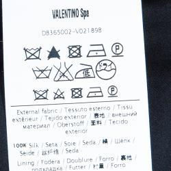 Valentino Black Satin Tailored Trousers M