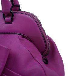Valentino Fushia Leather Bow Dome Bag