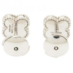 Van Cleef & Arpels Sweet Alhambra Mother of Pearl White Gold Earrings