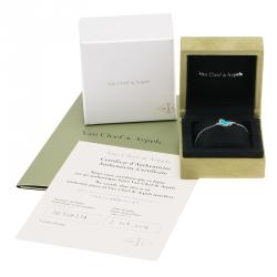 Van Cleef and Arples Sweet Alhambra Butterfly Turquoise White Gold Bracelet Size 18cm