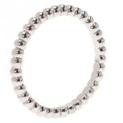 خاتم فان كليف أند أربلز بيرلي بيرلز ذهب أبيض مقاس 49