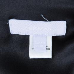 Vera Wang Black Sleeveless Belted Maxi Dress L